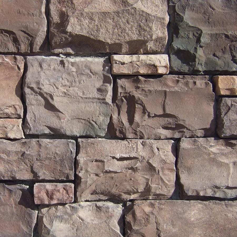 Coronado Stone Products Ashlar and Rubble 15-sq ft Coastal Brown Faux Stone Veneer