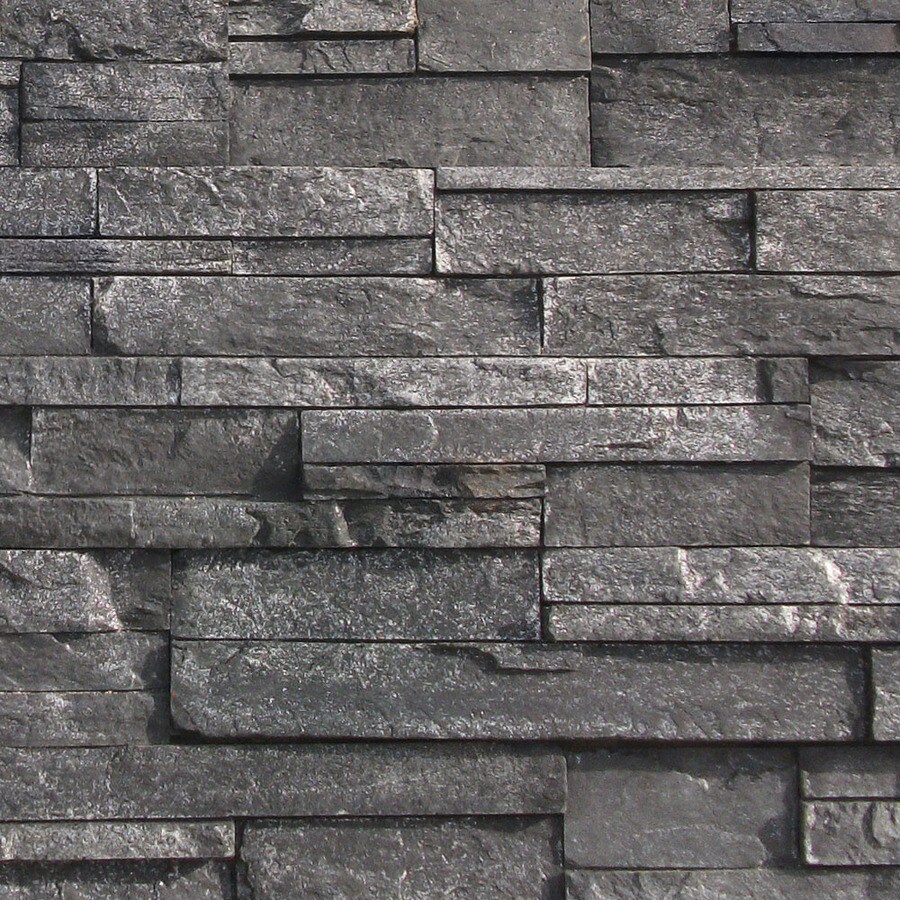 Shop Coronado Stone Products Ledgestone 125 Sq Ft Black