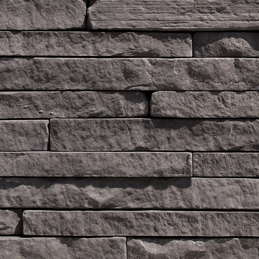 Shop coronado stone products ledgestone 12 5 sq ft black for Allure cement siding