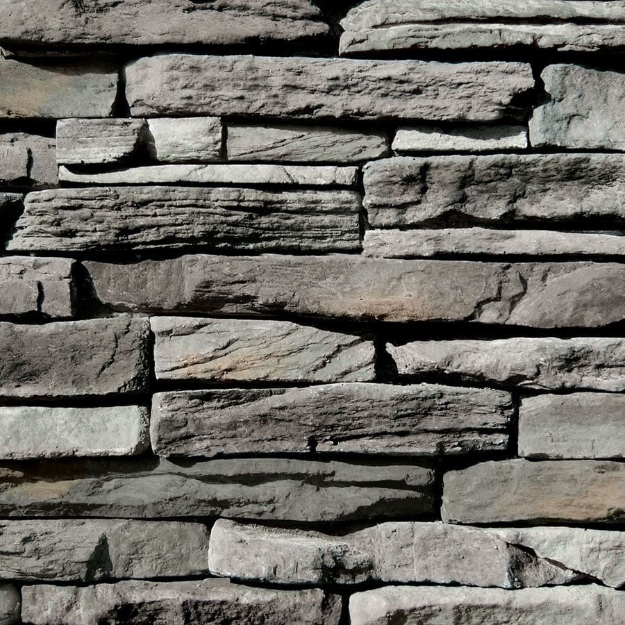 Coronado Stone Products Ledgestone 100-sq ft Provo Canyon Grey Faux Stone Veneer