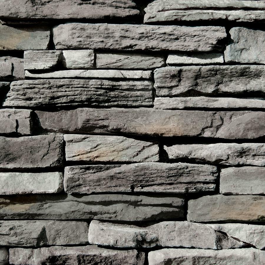 Coronado Stone Products Ledgestone 12.5-sq ft Provo Canyon Grey Faux Stone Veneer