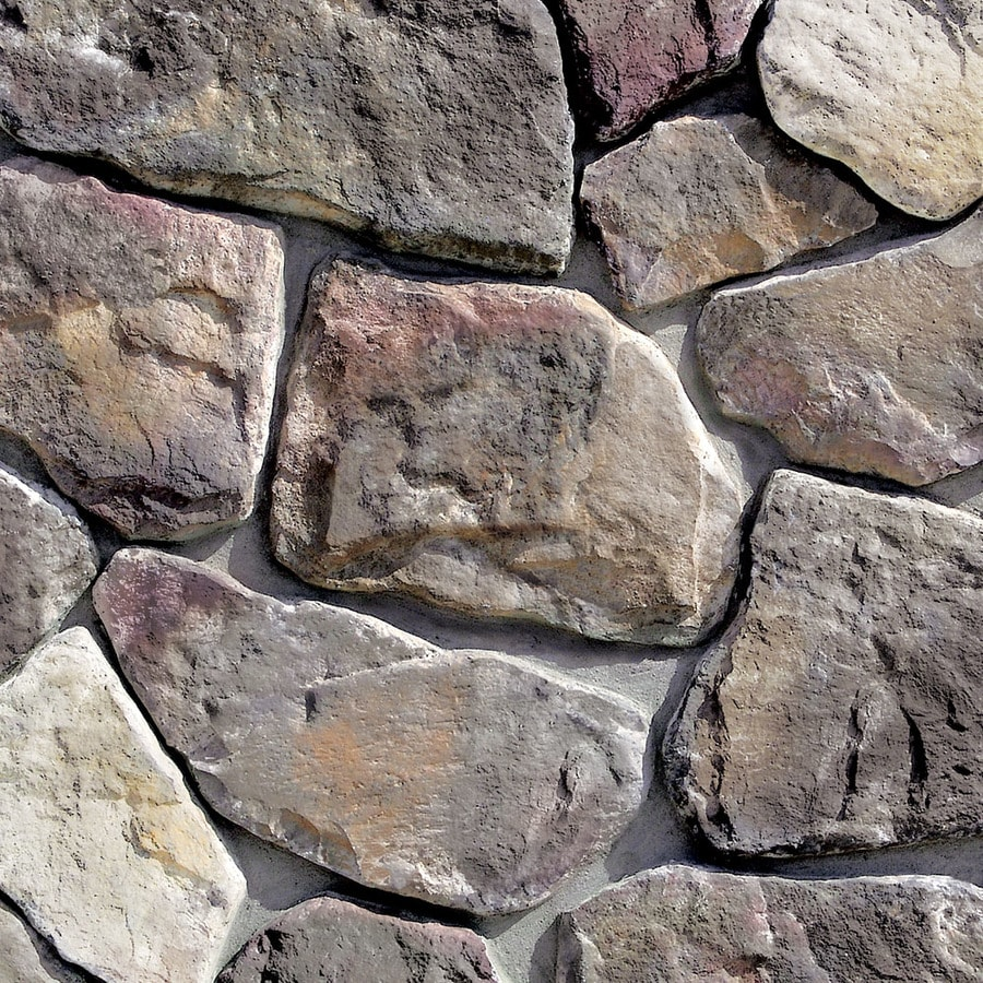Shop coronado stone products irregular stone 100 sq ft for Manufactured veneer stone