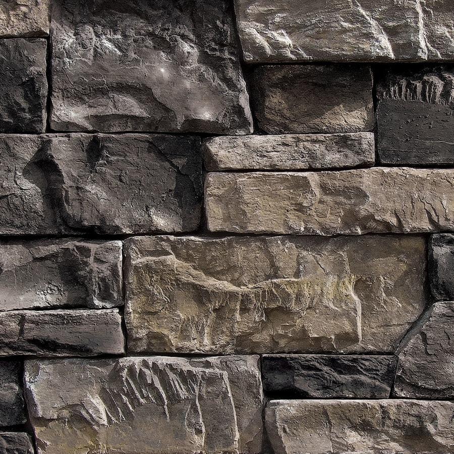Shop coronado stone products ledgestone 15 sq ft banff for Manufactured veneer stone