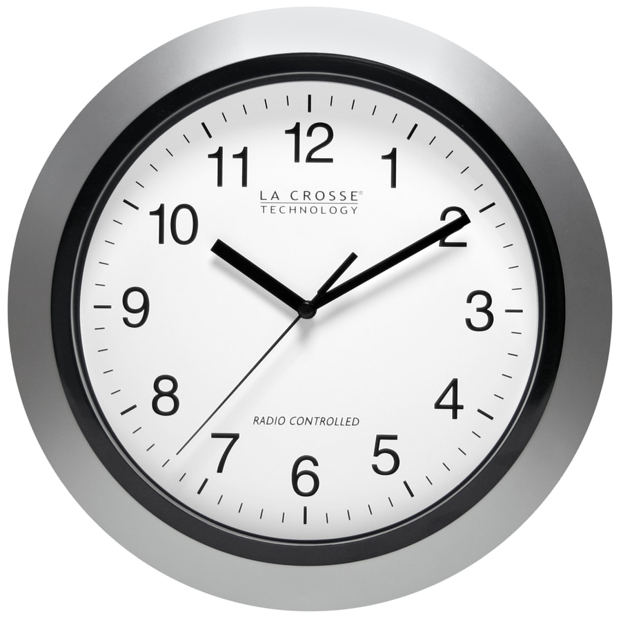La Crosse Technology Analog Atomic Round Indoor Wall Clock At Lowes Com