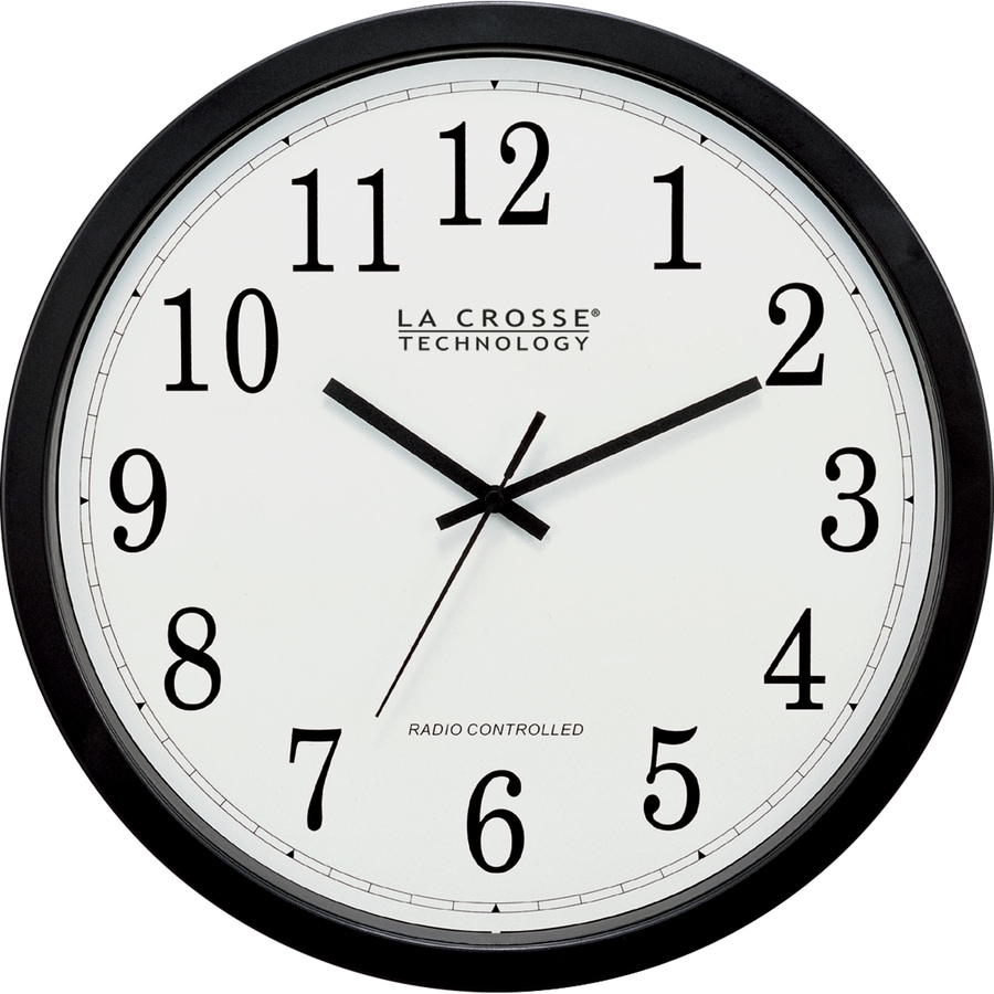 La Crosse Technology Analog Atomic Round Indoor Wall Clock