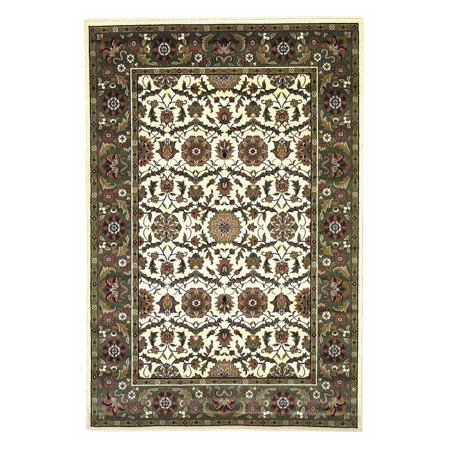 KAS Rugs Kashan Rectangular Indoor Woven Area Rug (Common: 5 x 8; Actual: 63-in W x 91-in L)