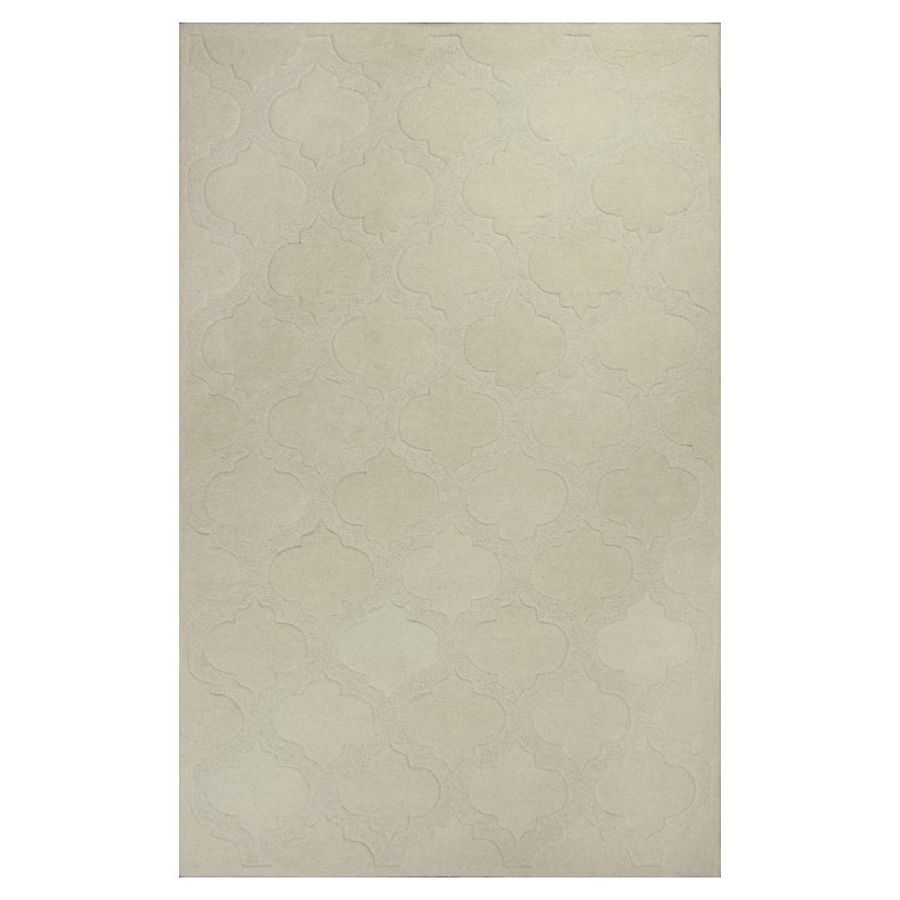 KAS Rugs Textures Of Life Ivory Rectangular Indoor Tufted Area Rug (Common: 8 x 11; Actual: 96-in W x 126-in L)