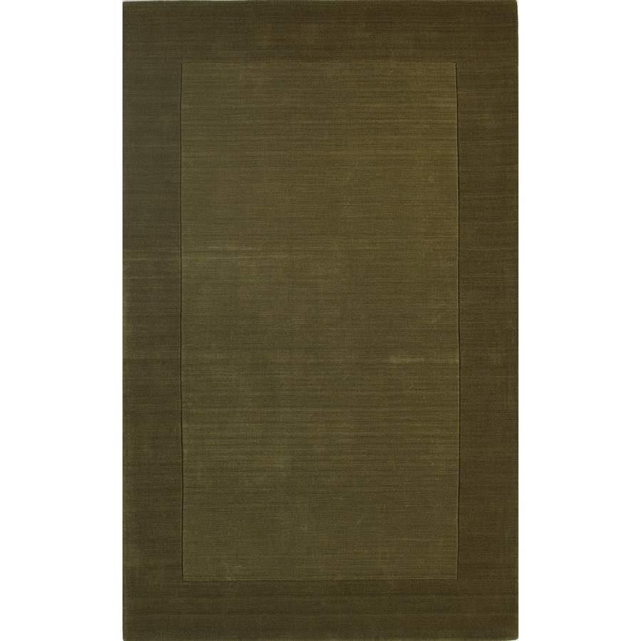 allen + roth Symposium 7-ft 6-in x 9-ft 6-in Rectangular Green Border Area Rug
