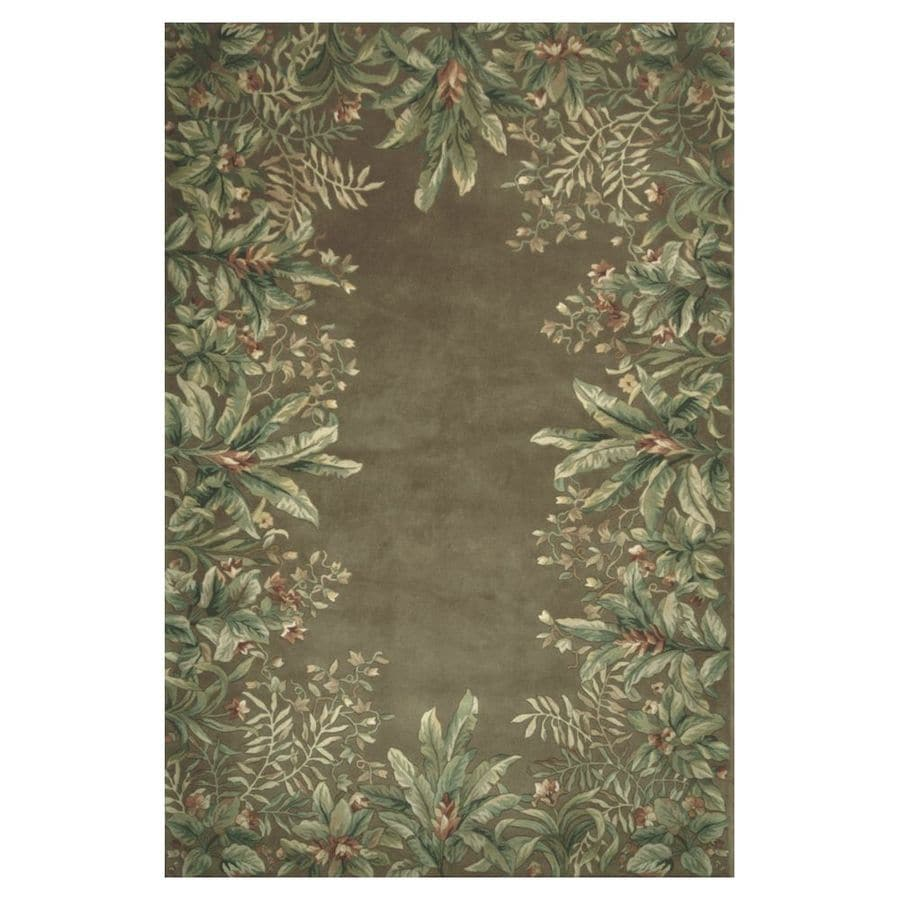 KAS Rugs Far East Gem Taupe Rectangular Indoor Tufted Area Rug (Common: 10 x 13; Actual: 111-ft W x 159-ft L)