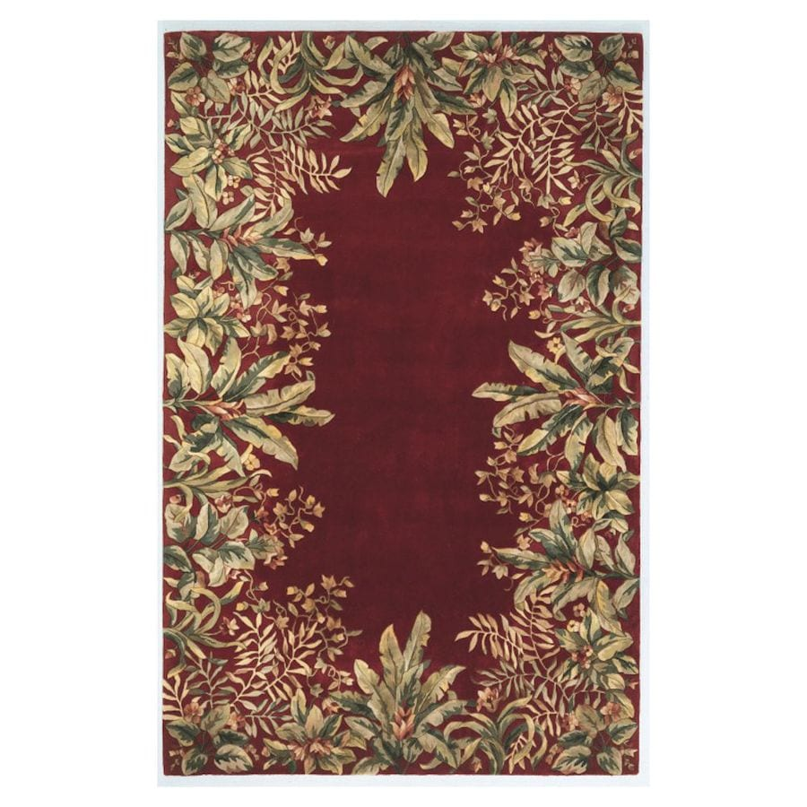 KAS Rugs Far East Gem Ruby Rectangular Indoor Handcrafted Throw Rug (Common: 2 x 4; Actual: 2.50-ft W x 4.50-ft L)