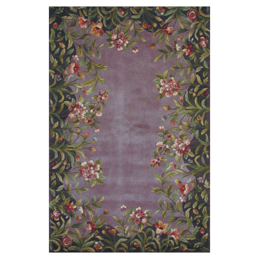 KAS Rugs Far East Gem Lavender Rectangular Indoor Tufted Area Rug (Common: 5 x 8; Actual: 63-ft W x 99-ft L)