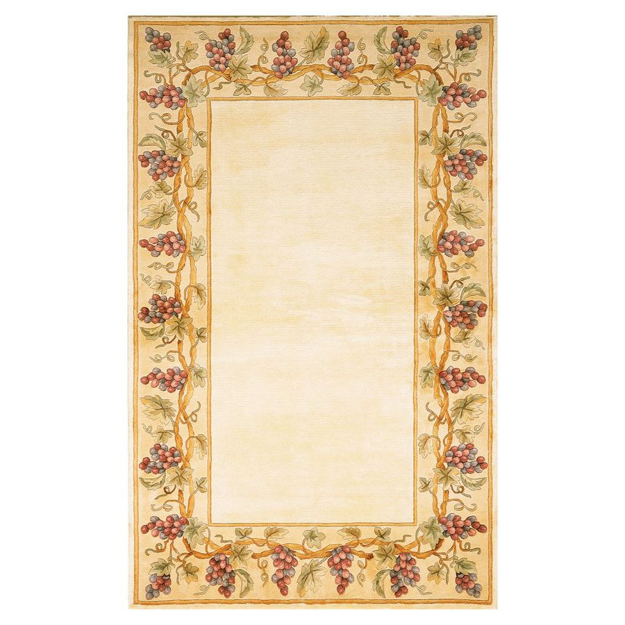 KAS Rugs Far East Gem Ivory Rectangular Indoor Tufted Throw Rug (Common: 2 x 3; Actual: 24-in W x 36-in L)