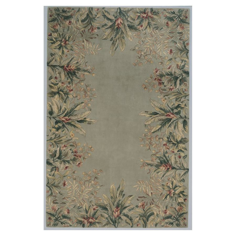 KAS Rugs Far East Gem Sage Rectangular Indoor Tufted Area Rug (Common: 10 x 13; Actual: 111-in W x 159-in L)