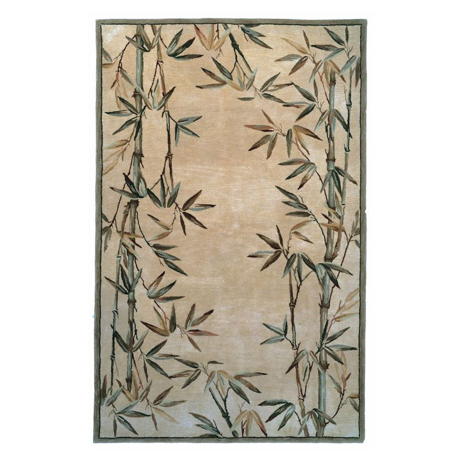 Kas Rugs Floral Trends Ivory Rectangular Indoor Tufted