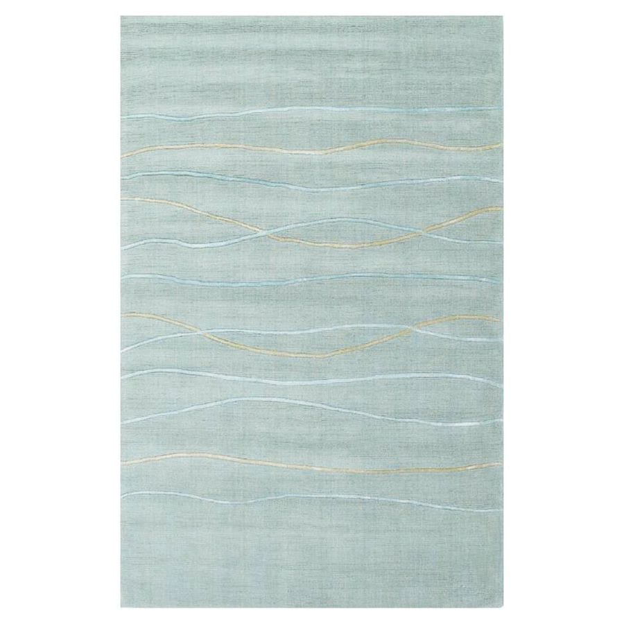 KAS Rugs Shimmering Treasures Blue Rectangular Indoor Tufted Area Rug (Common: 8 x 10; Actual: 96-ft W x 120-ft L)