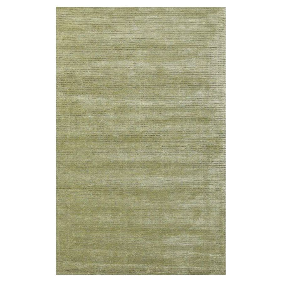 KAS Rugs Shimmering Treasures Green Rectangular Indoor Handcrafted Throw Rug (Common: 2 x 4; Actual: 2.50-ft W x 4.17-ft L)