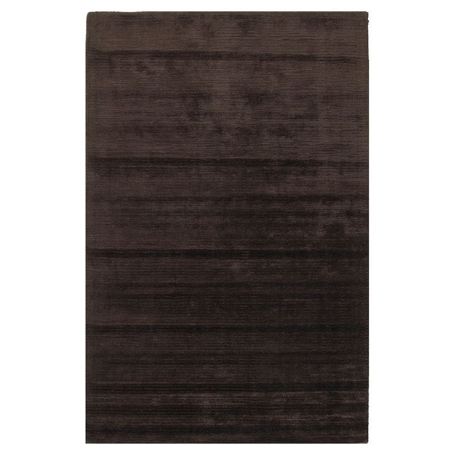 KAS Rugs Shimmering Treasures Brown Rectangular Indoor Tufted Throw Rug (Common: 2 x 4; Actual: 30-in W x 50-in L)