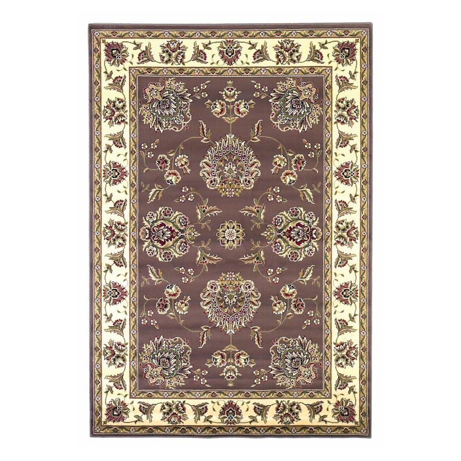 KAS Rugs Mahal Brown Rectangular Indoor Woven Oriental Throw Rug (Common: 3 x 5; Actual: 39-ft W x 59-ft L)