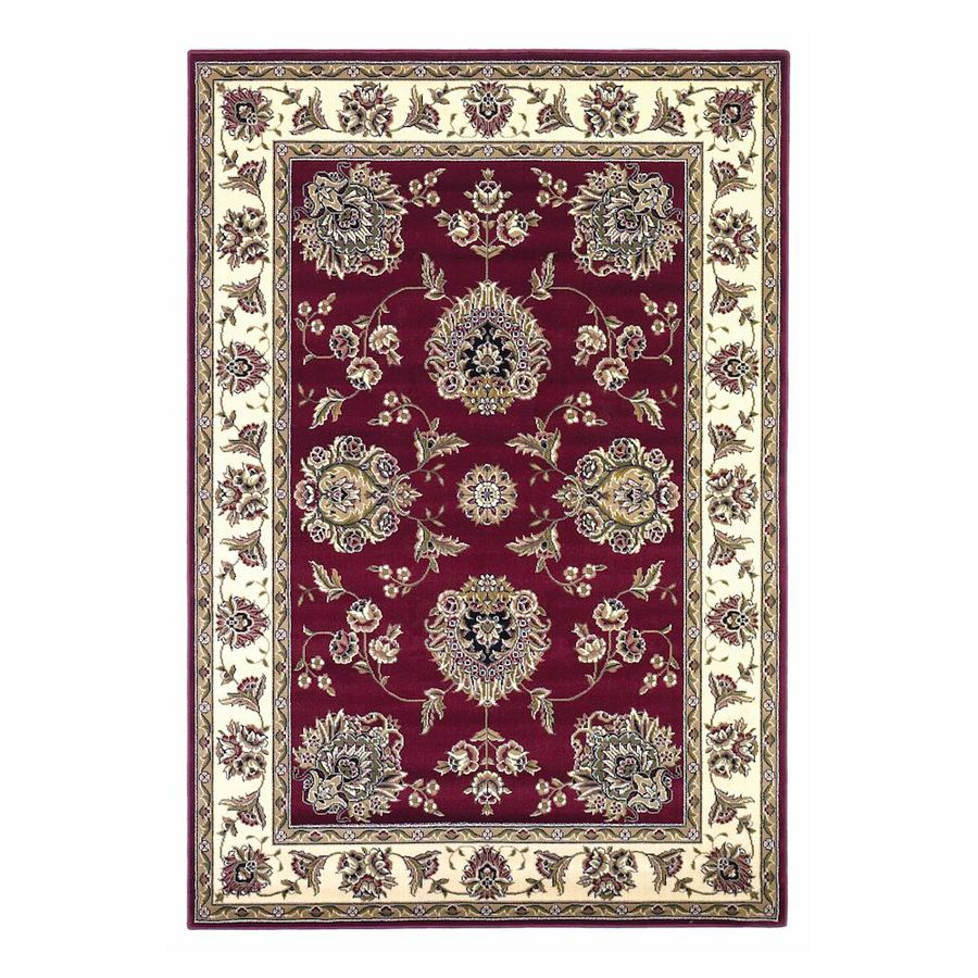KAS Rugs Mahal Red Rectangular Indoor Woven Oriental Area Rug (Common: 5 x 8; Actual: 63-ft W x 91-ft L)