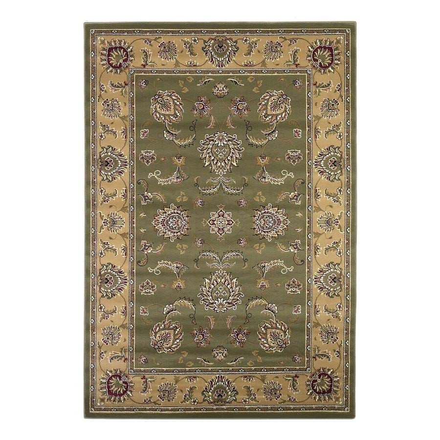 KAS Rugs Bijar Green Rectangular Indoor Woven Oriental Area Rug (Common: 5 x 8; Actual: 63-ft W x 91-ft L)