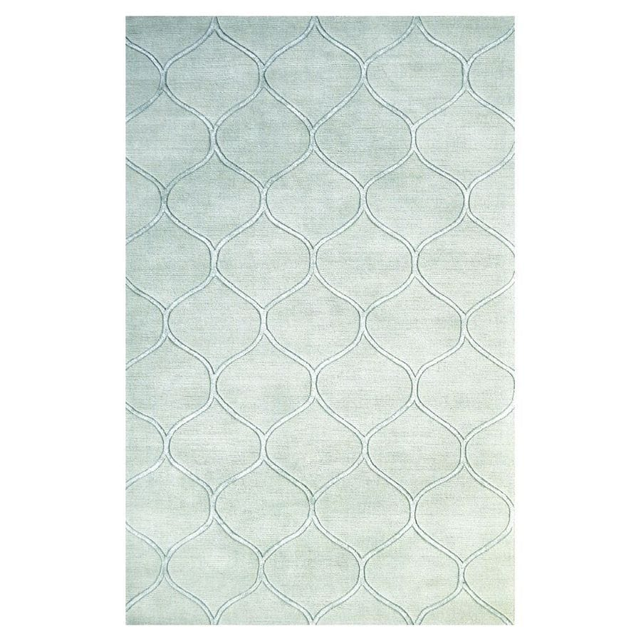 KAS Rugs Shimmering Treasures Blue Rectangular Indoor Handcrafted Area Rug (Common: 5 x 8; Actual: 5-ft W x 8-ft L)