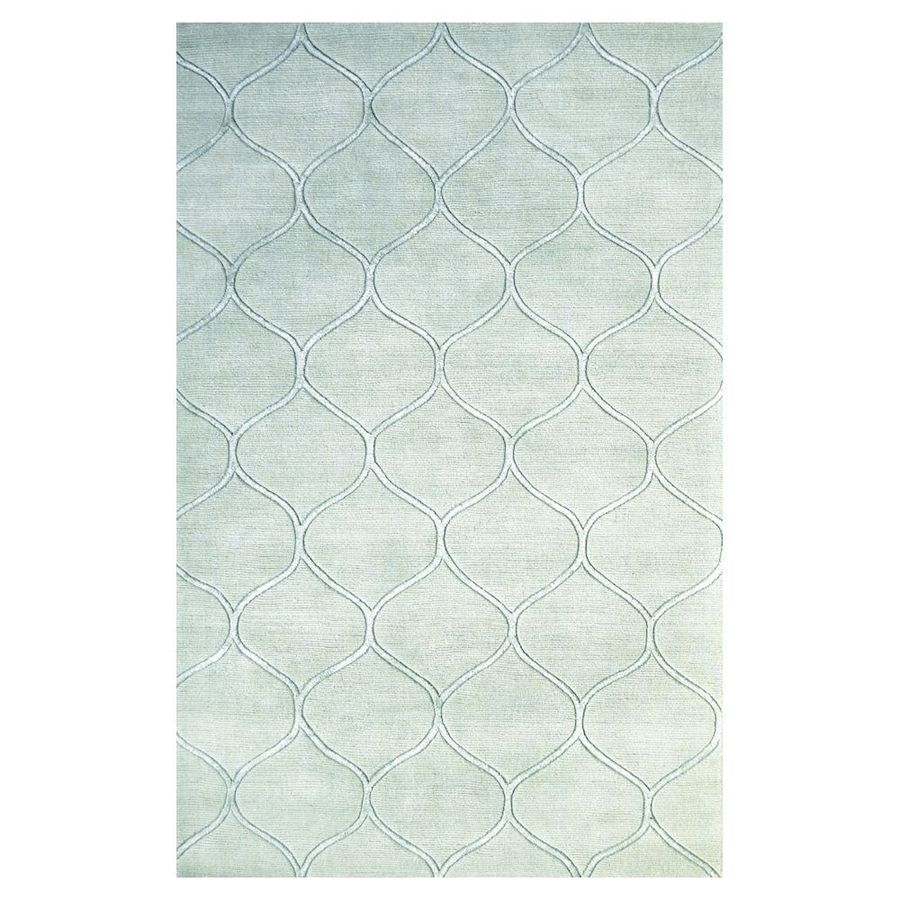 KAS Rugs Shimmering Treasures Blue Rectangular Indoor Tufted Area Rug (Common: 8 x 10; Actual: 96-in W x 120-in L)