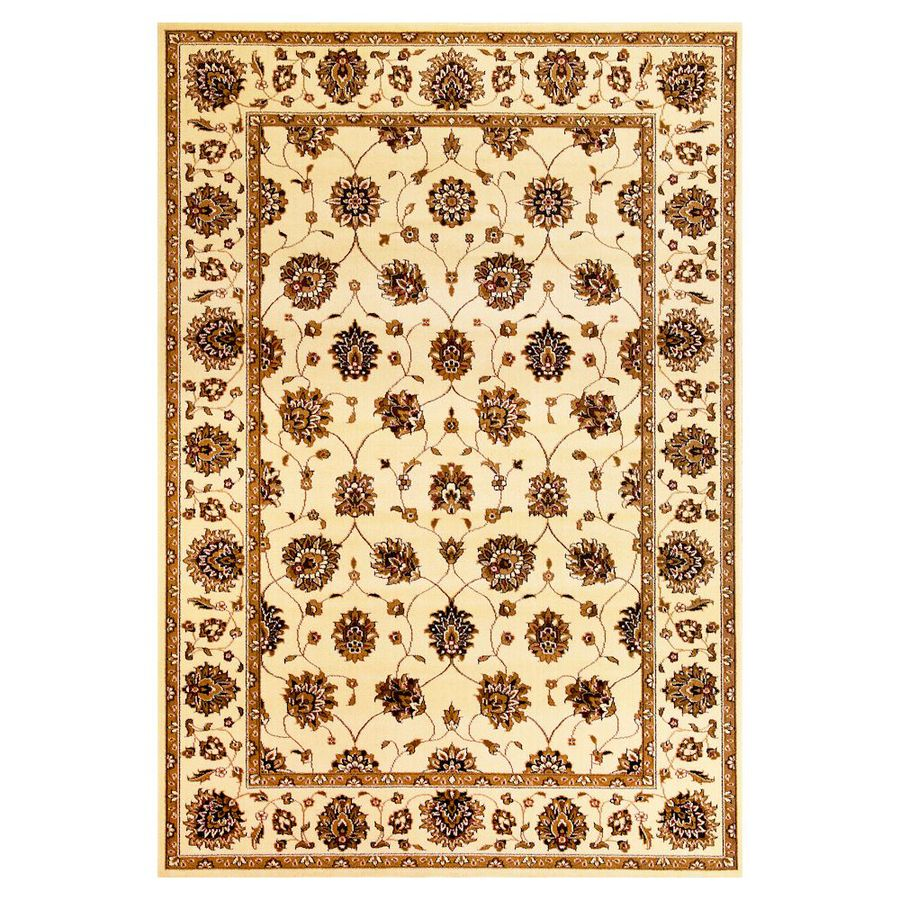 KAS Rugs Tabriz Rectangular Indoor Woven Area Rug (Common: 5 x 8; Actual: 5.25-ft W x 7.58-ft L)