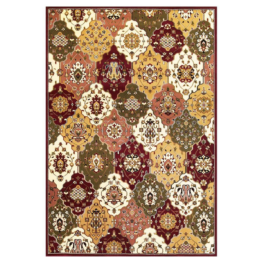 KAS Rugs Panel Classic Rectangular Indoor Woven Area Rug (Common: 5 x 8; Actual: 63-in W x 91-in L)
