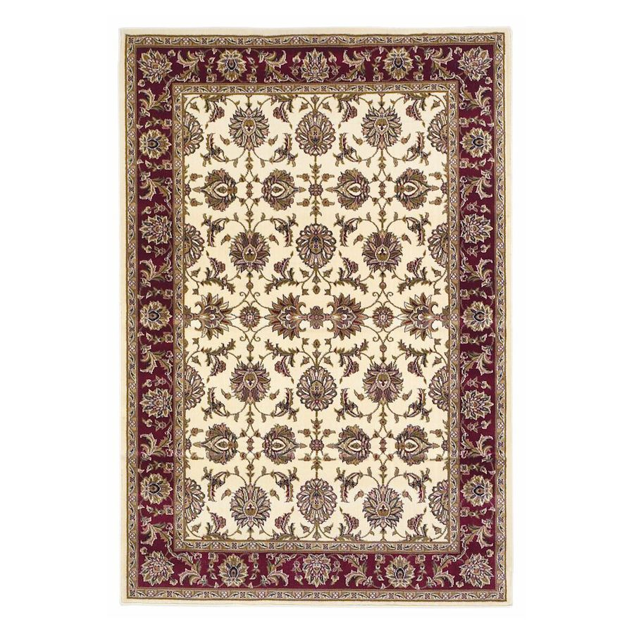 KAS Rugs Persian Art Ivory Rectangular Indoor Woven Oriental Throw Rug (Common: 3 x 5; Actual: 39-ft W x 59-ft L)