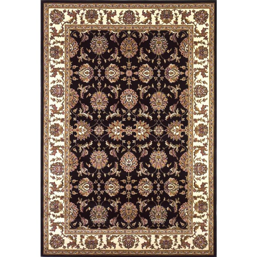 KAS Rugs Black Rectangular Indoor Woven Oriental Area Rug (Common: 8 x 11; Actual: 91-ft W x 130-ft L)