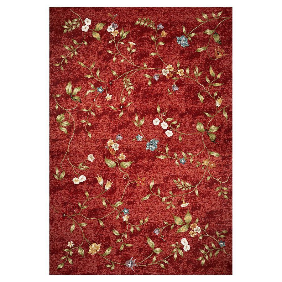KAS Rugs Serenity Red Rectangular Indoor Outdoor Woven Throw Rug (Common: 3 x 5; Actual: 40-in W x 59-in L)