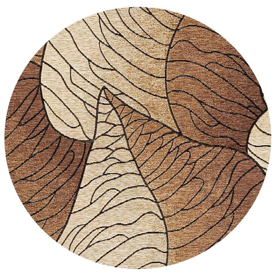 Shop KAS Rugs Serenity Brown Round IndoorOutdoor Woven
