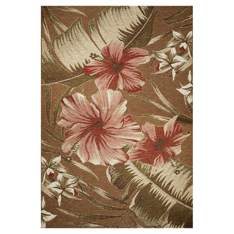 8x10 Indoor Outdoor Area Rugs: KAS Rugs Serenity Brown Rectangular Indoor Outdoor Woven