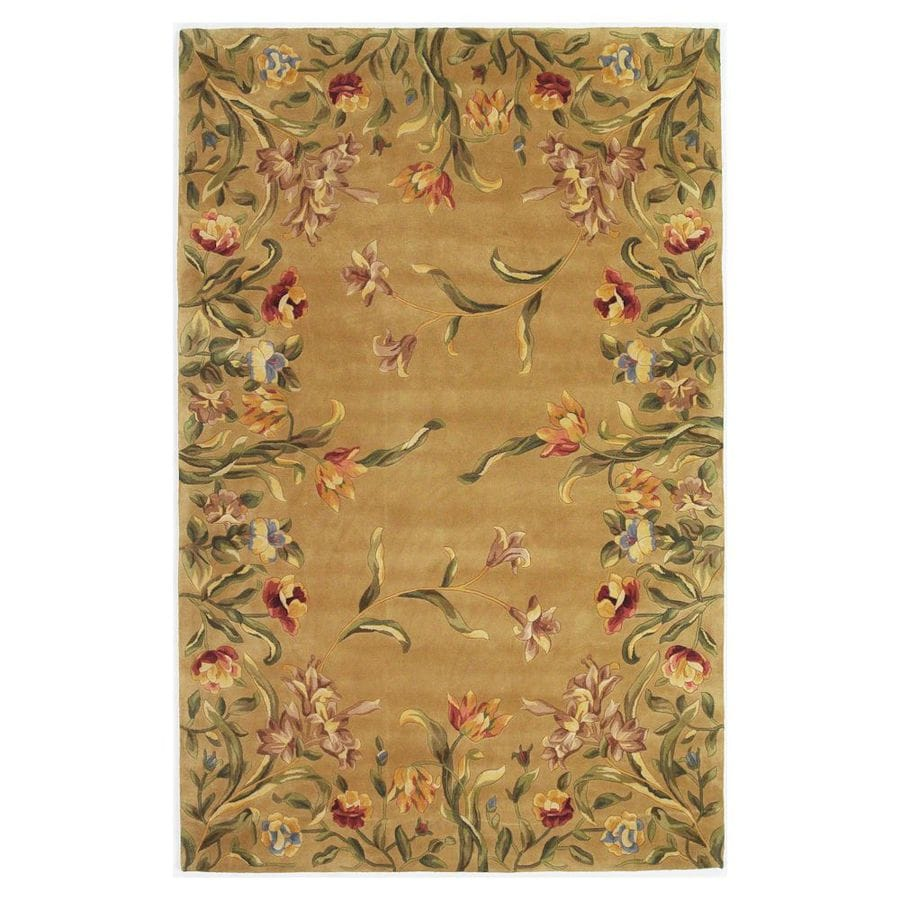 KAS Rugs Far East Gem Brown Rectangular Indoor Tufted Area Rug (Common: 10 x 13; Actual: 111-in W x 159-in L)