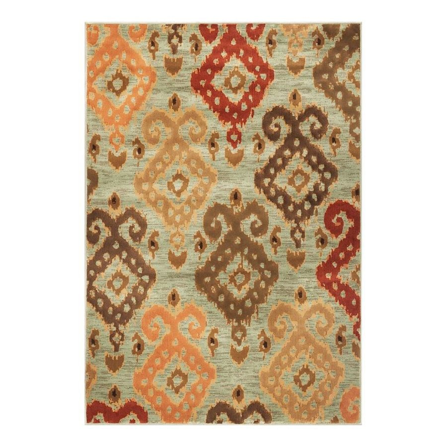 KAS Rugs Trendy Chic Blue Rectangular Indoor Woven Area Rug (Common: 5 x 8; Actual: 63-in W x 92-in L)