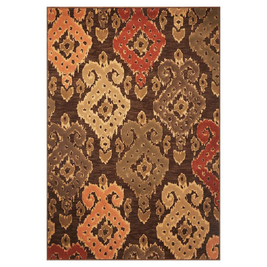 KAS Rugs Trendy Chic Brown Rectangular Indoor Woven Area Rug (Common: 8 x 11; Actual: 91-ft W x 130-ft L)