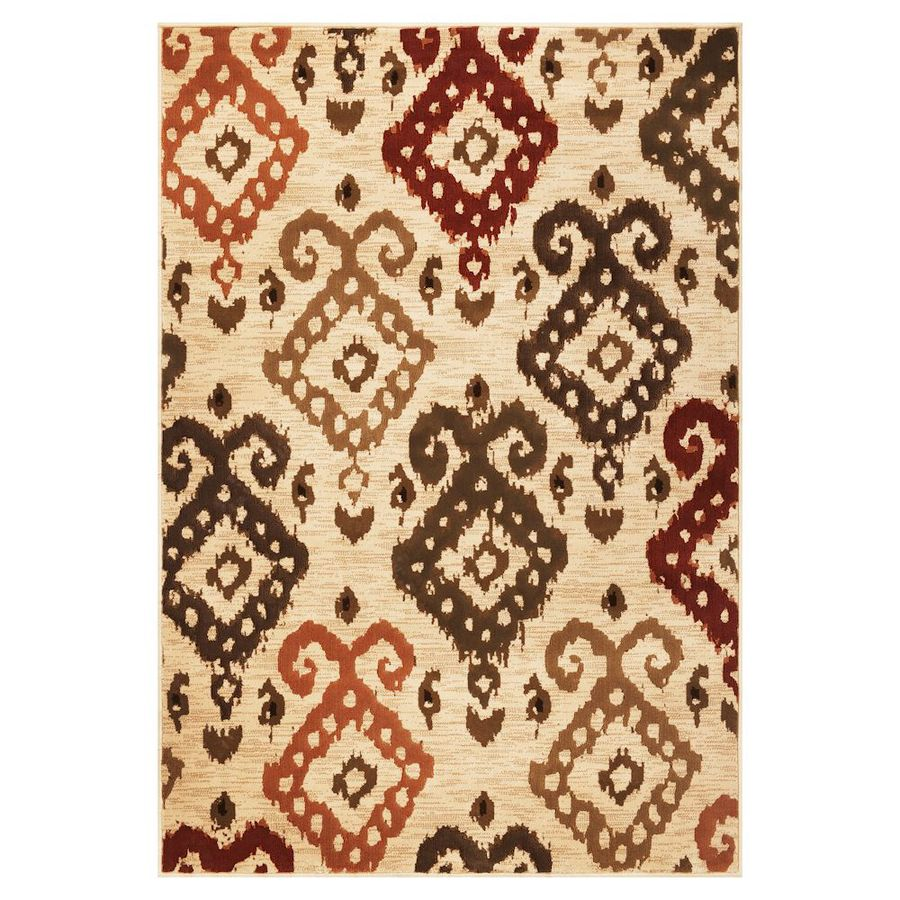 KAS Rugs Trendy Chic Ivory Rectangular Indoor Woven Area Rug (Common: 8 x 11; Actual: 91-in W x 130-in L)