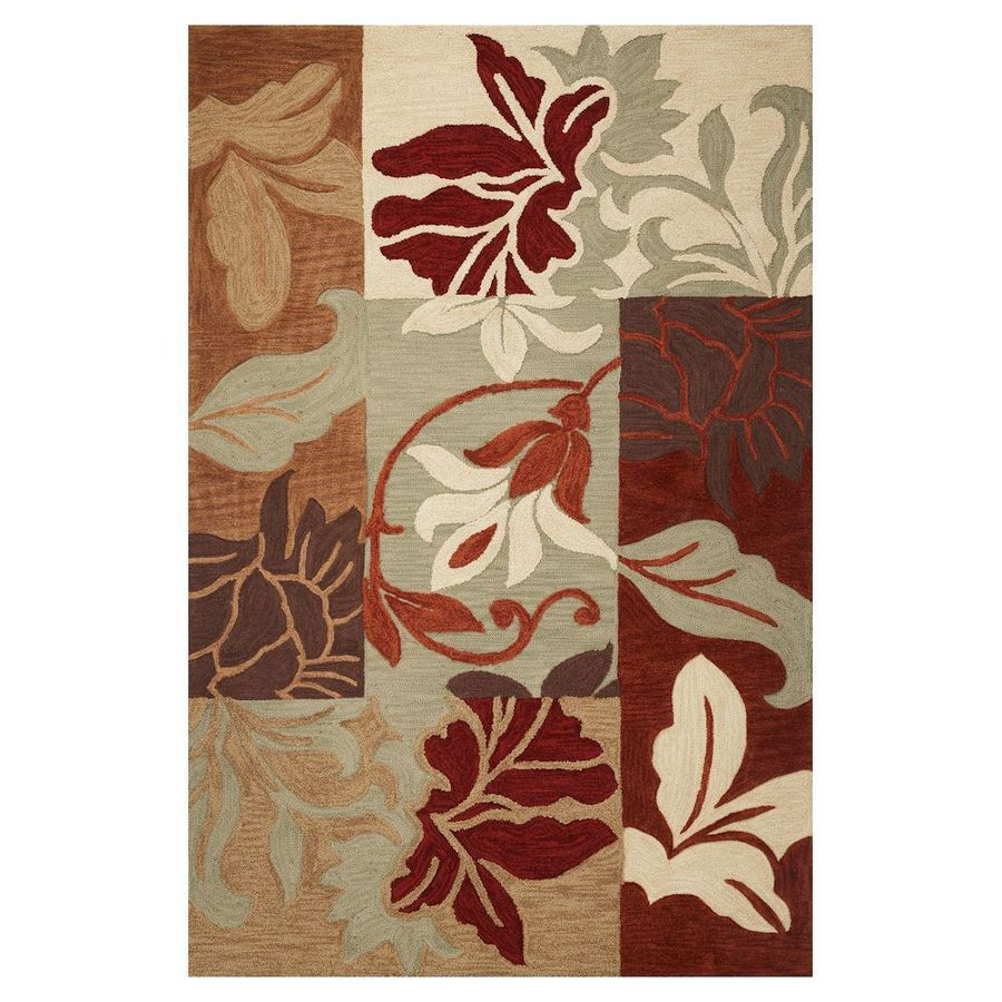 KAS Rugs Trend Setter Red Rectangular Indoor Tufted Area Rug (Common: 10 x 13; Actual: 108-in W x 156-in L)