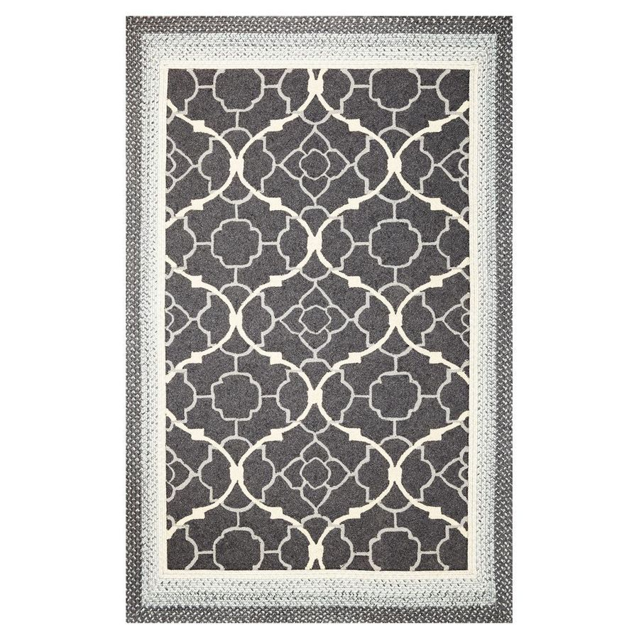 KAS Rugs Shabby Chic Rectangular Indoor and Outdoor Hand-Hooked Throw Rug (Common: 2 x 4; Actual: 27-in W x 45-in L)