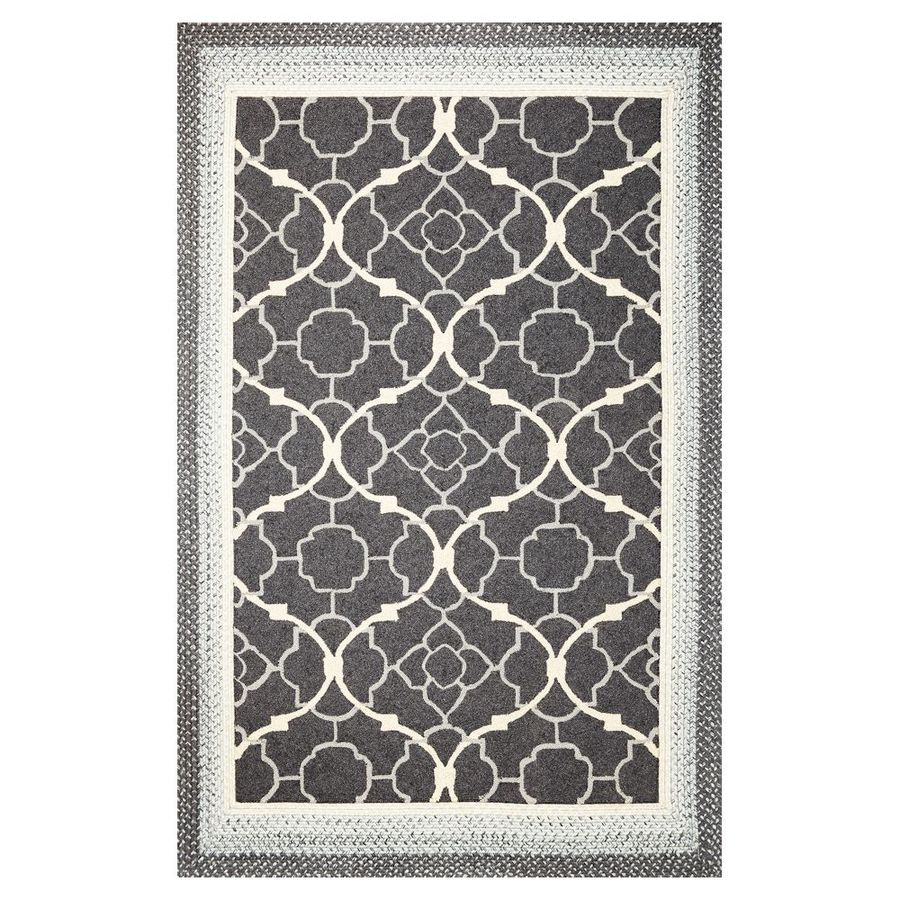KAS Rugs Shabby Chic Rectangular Indoor/Outdoor Hand-Hooked Area Rug