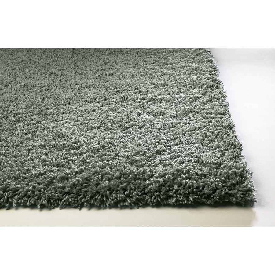 Sofia Blue Rectangular Indoor Shag Throw Rug (Common: 2 x 4; Actual: 27-in W x 45-in L)
