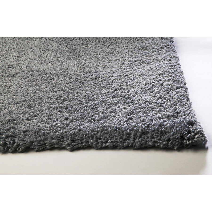 Sofia Gray Rectangular Indoor Shag Throw Rug (Common: 2 x 4; Actual: 27-ft W x 45-ft L)