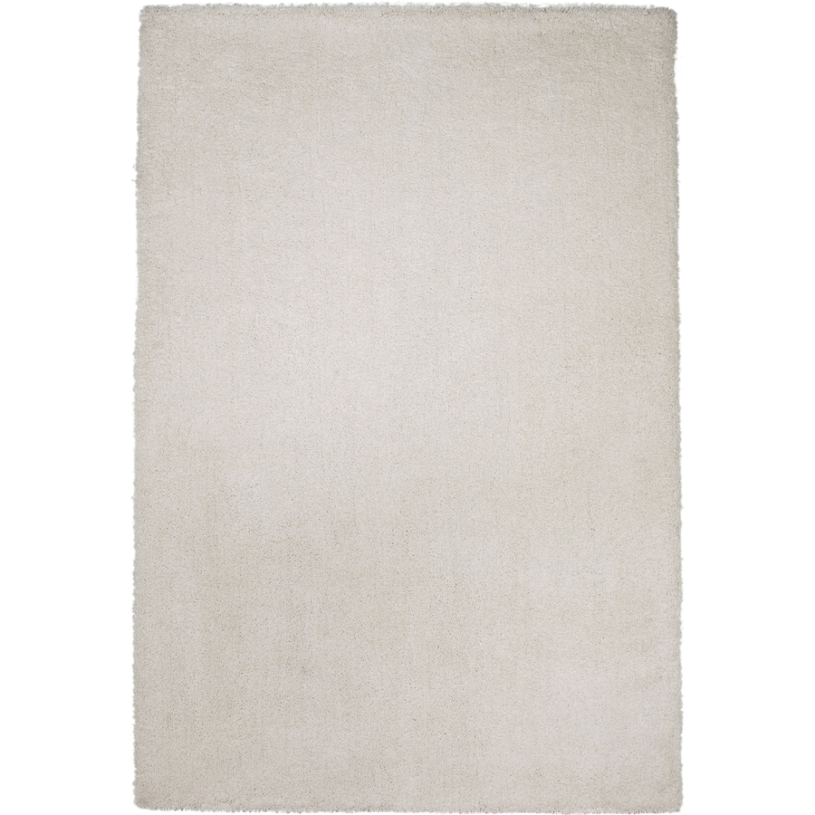 Sofia Shag Ivory Rectangular Indoor Machine-Made Area Rug (Common: 5 x 8; Actual: 5-ft W x 7-ft L)