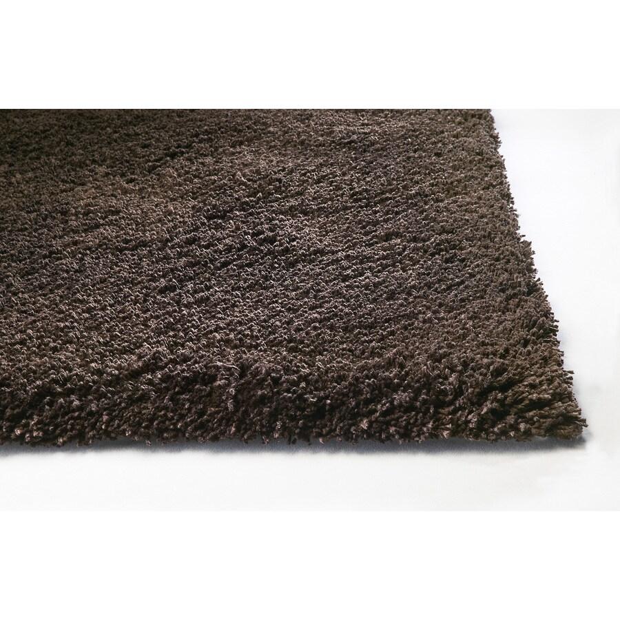 Sofia Brown Rectangular Indoor Shag Area Rug (Common: 8 x 10; Actual: 90-in W x 114-in L)