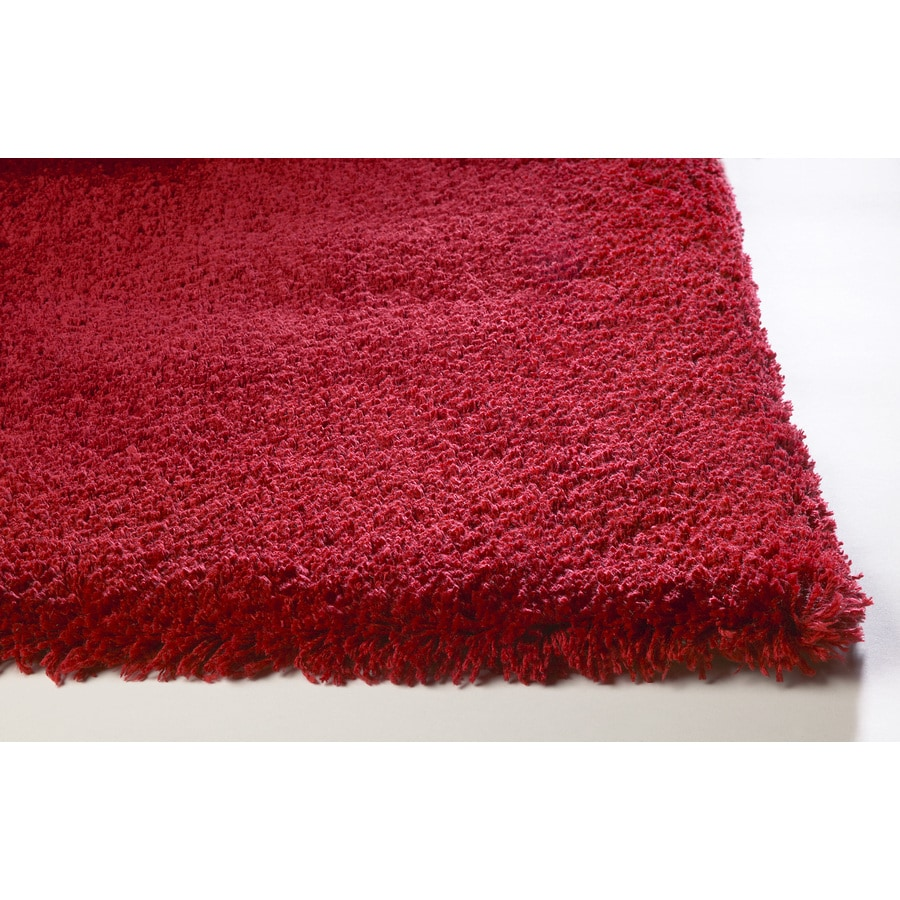 Sofia Shag Red Rectangular Indoor Machine-Made Area Rug (Common: 8 x 10; Actual: 7.50-ft W x 9.50-ft L)