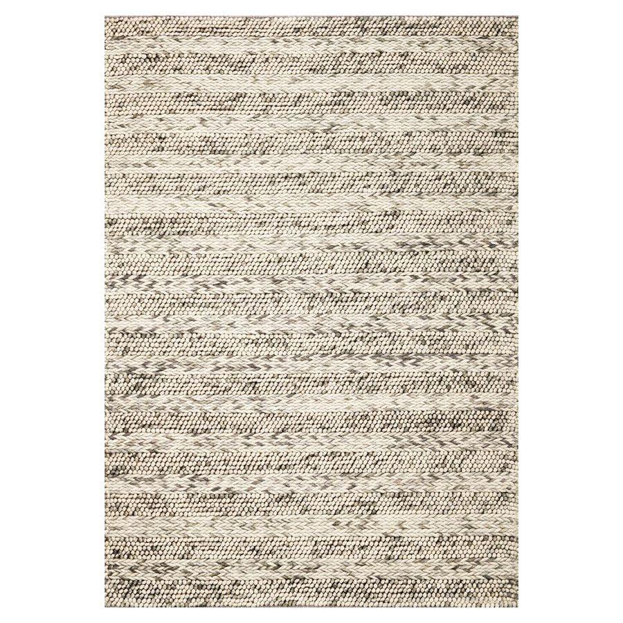 KAS Rugs Posh Gray Rectangular Indoor Woven Area Rug (Common: 5 x 7; Actual: 60-in W x 84-in L)