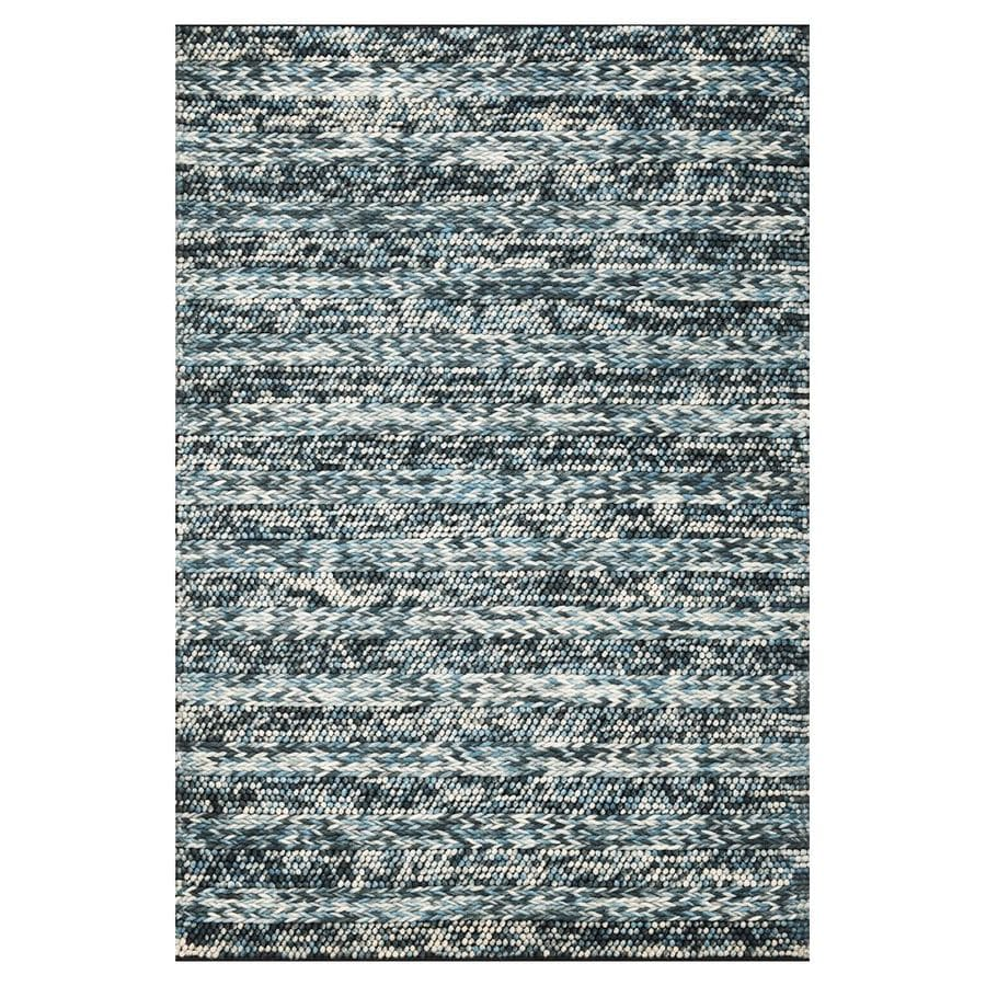 KAS Rugs Posh Blue Rectangular Indoor Woven Area Rug (Common: 8 x 10; Actual: 90-ft W x 114-ft L)