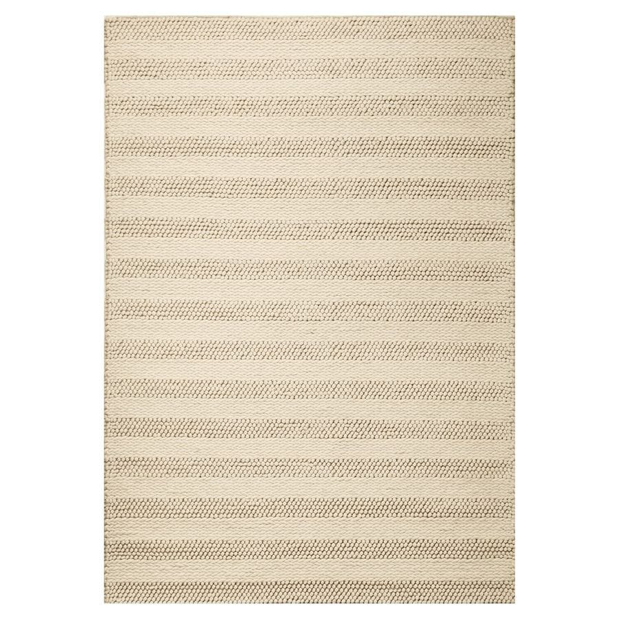 KAS Rugs Posh Ivory Rectangular Indoor Woven Area Rug (Common: 8 x 10; Actual: 90-ft W x 114-ft L)