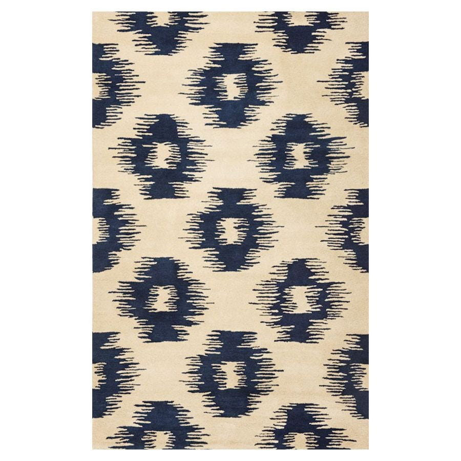 KAS Rugs Ikat Style Rectangular Indoor Tufted Throw Rug (Common: 3 x 5; Actual: 39-in W x 63-in L)