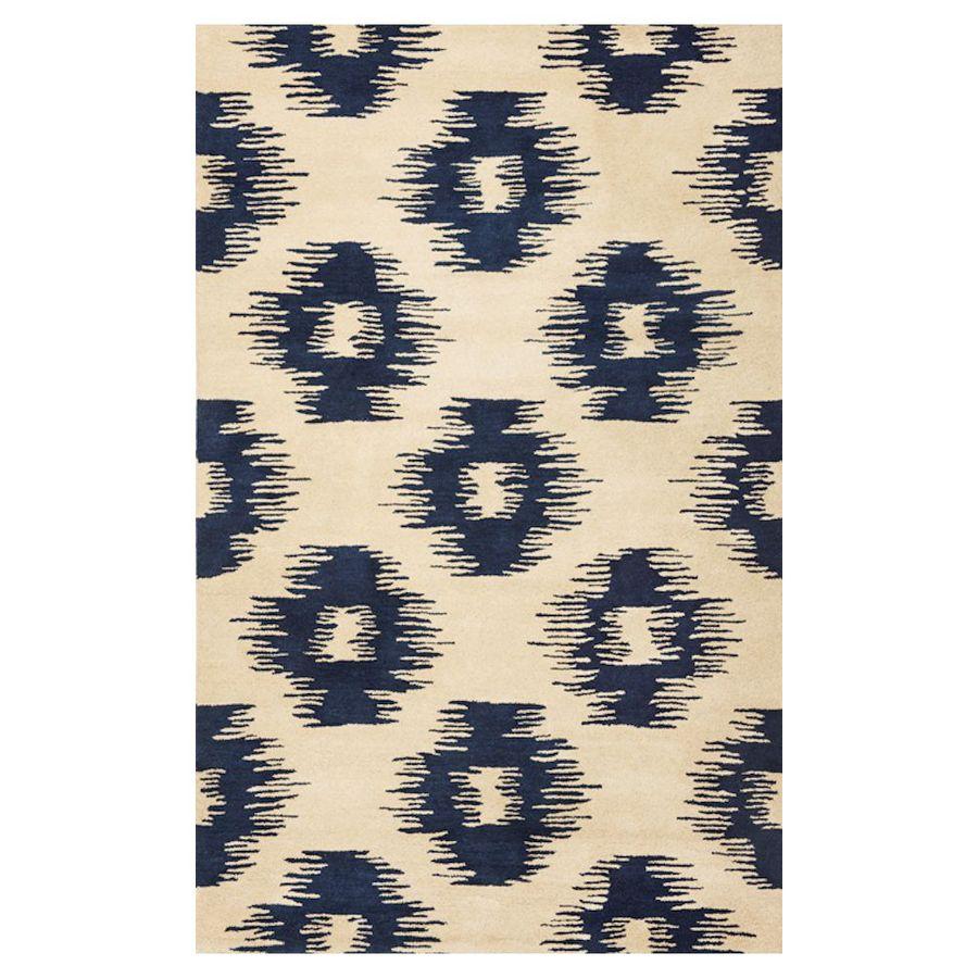 KAS Rugs Ikat Style Rectangular Indoor Tufted Throw Rug